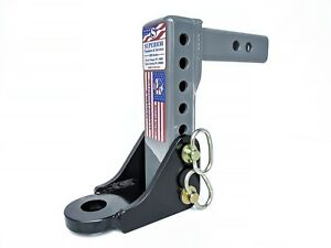 Adjustable Ball Mount Drop Trailer Hitch 10 000lb 2 Shank 1 1 4 Hole Abm 3