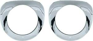 Headlight Bezels Chrome With Seals 1955 1956 1957 Chevrolet Chevy Truck