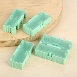Green Anti static Electronic Components Parts Case Smd Smt Storage Box 5pcs pack