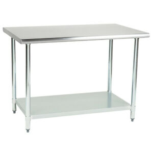 Cmi 24 X 60 18 Gauge 430 Economy Stainless Steel Commercial Work Table