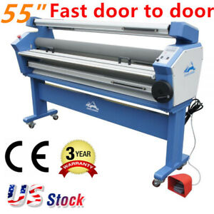 Us Stock Qomolangma 55in Full auto Wide Format Cold Laminator With Heat Assist