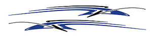 2 Rv Car Truck Trailer Side Accent Decals Graphics Stripes Vinyl Pb365