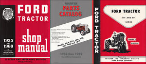 1957 1958 1959 1960 Ford 741 771 941 971 981 3 Manual Set Tractor Service Books