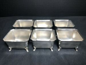 Vintage International Silver Co Silver Plate Footed Dessert Cups Boats Set Of 6