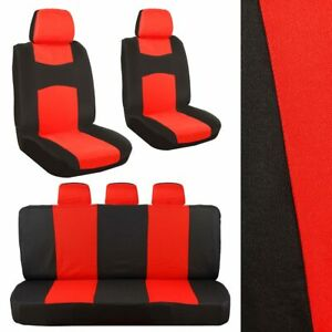 Universal Cloth Breathable Car Seat Cover Set Front Rear Protector Cushions