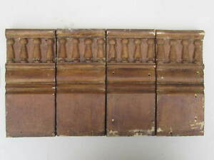 Architectural Salvage Wood Trim 4 Plinth Block Neat Vintage Antique