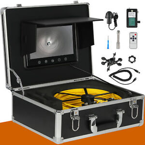 30m Ip68 Waterproof Drain Pipe Sewer Inspection Camera 7 Lcd 1000 Tvl
