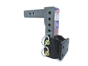 Superior Adjustable Pintle Mount Adapter Hitch 10 000lb 2 Shank