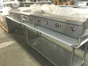 Griddles Grill Flat Top Gas 48 New Wt 4 Burners 48 X 30 X 15 h Stainless St