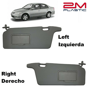 2001 2002 2003 2004 2005 Honda Civic Sun Visor Left Right Darkgray 2mplastic