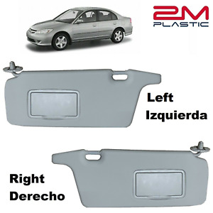 Sun Visor Left Right For Honda Civic 2001 2005 Gray 2mplastic 02 03 04