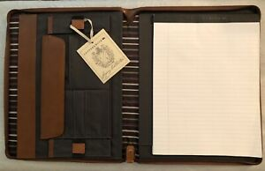 Cutter Buck Legacy Socalgas Zippered Business Leather Padfolio Office Pad New