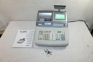 Casio Te 3000s Electronic Cash Register With Key And 160 Page Manual