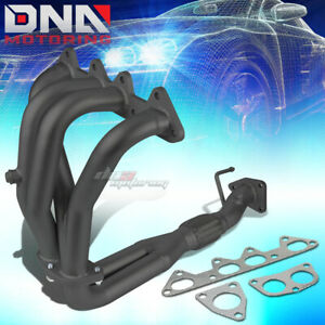 Black Paint Finished Header For 98 02 Accord F23 2 3l 4cyl Cg Exhaust Manifold