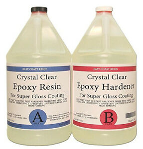 Epoxy Resin Crystal Clear 2 Gallon Kit For Super Gloss Coating And Tabletops