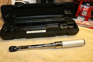 Snap On Tools Qd1r200 Adjustable Click Torque Wrench 1 4 Drive 40 200in Lbs