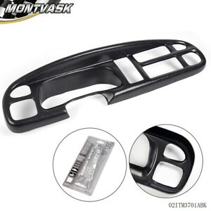 Molded Dash Board Bezel Cap Cover Overlay For 98 02 Dodge Ram 1500 2500 3500