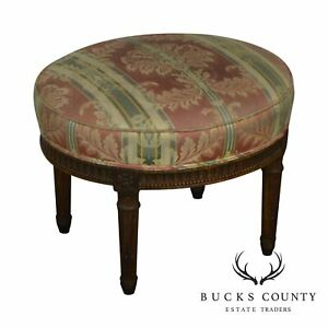 French Louis Xvi Style Antique Walnut Foot Stool