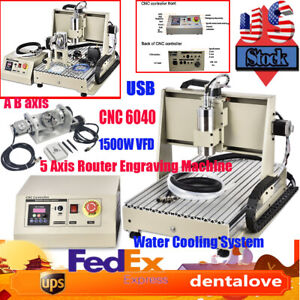 Usb Port 6040 5 Axis Cnc 1 5kw Router Engraving Machine Metal Milling Machine Us