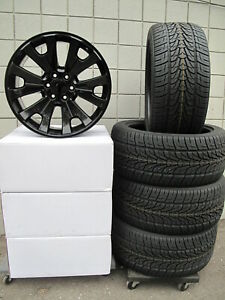 22 New 6 Lug Ram 1500 2019 Gloss Black Set Of 4 Wheels 305 40 22 Tires 190gb