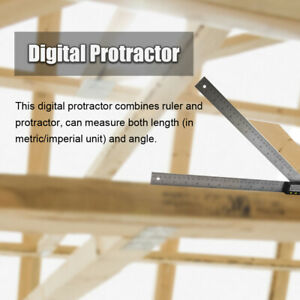 Digital Angle Finder Ruler Protractor Measure Meter Stainless Steel 1pcs S9o3
