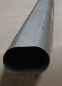 3 Inch Oval Exhaust Tubing 8 Foot Straight 304 Stainless
