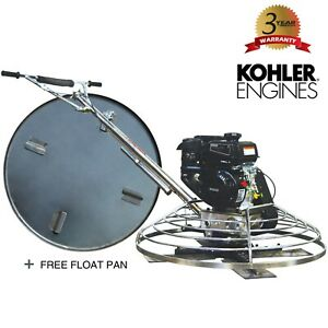 36 Gas Concrete Wet Powertrowel Cement Powered By Kohler 6hp Engine