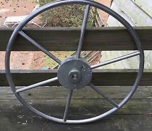 Authentic Vintage Maritime Marine Hd Stainless Steel Ship S Wheel 30 1 2