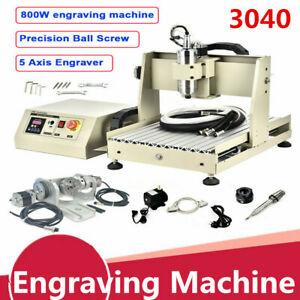 0 8kw 5 Axis Cnc 3040 Router Engraving Machine Engraver Milling Drill 3d Cutting