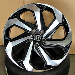 20x8 Sport Style Gloss Black machined Wheels Fits Honda Civic Accord Rims