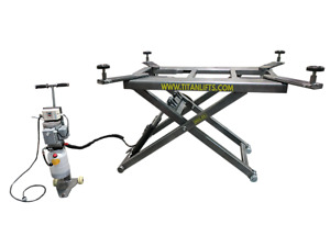 New Titan 6 600 Lbs Mid rise Scissor Lift With Free Adapters 110v
