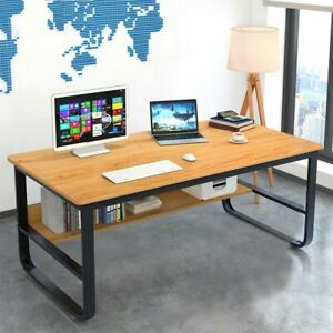 Wood Corner Computer Desk Laptop Writing Table Workstation Home Office Furniture