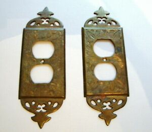 Vintage Brass Outlet Covers