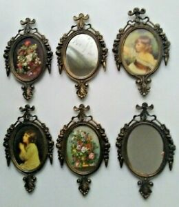 Lot Vintage Ornate Small Wall Hanging Photo Frames Mirrors Made In Italy New