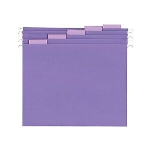 Staples Hanging File Folders 5 Tab Letter Size Purple 25 box 419200