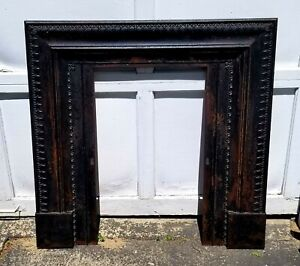 Architectural Salvaged Newport R I Antique Cast Iron Fireplace Surround