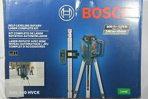 Bosch Grl240hvck 800 Ft Self Leveling Rotary Laser Level Kit W Carrying Case