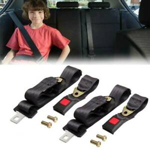 2x 14 Auto Car Seat Belt Extention Extender Safety 7 8 Buckle Black Universal
