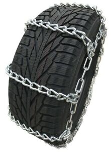 Snow Chains 225 75r16lt 225 75 16lt Extra Heavy Duty Mud Tire Chains Set Of 2