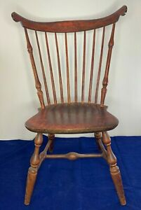 Reddish Brown Nichols And Stone Company Vintage Dining Chair