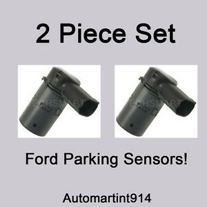 Set Ford Lincoln Reverse Backup Bumper Parking Pdc Sensor 3f2z15k859ba Set 2