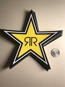 7 Yellow Black Authentic Rockstar Energy Drink Sticker Decal