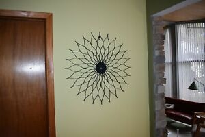Mcm Sunflower Starburst Wall Clock George Nelson 50 S 60 S Danish Modern Style