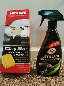 Black Car Detailing Wax Clay Bar Kit