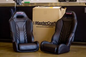 Mastercraft Safety S24 Heated Seats Black With Brackets Pair