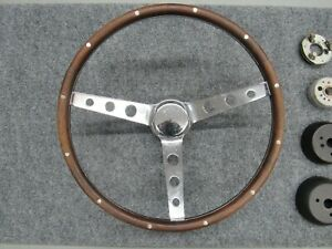 Vintage Grant Walnut Wood Steering Wheel Hot Rat Rod Gasser 55 56 56 Chevrolet
