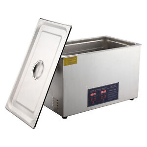Stainless Steel 15l Liter Industry Ultrasonic Cleaner Heated Heater W timer