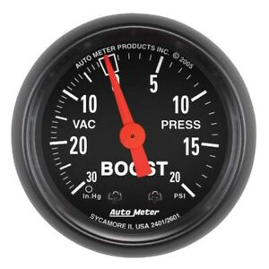 Auto Meter 2601 Z Series Mechanical Boost Vacuum Gauge