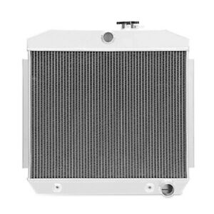 New Aluminum 4 row Radiator For 1955 1956 1957 Chevy Bel air Nomad L6 V8