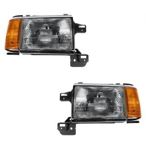 New Left Right Headlight signal Pair For 1998 2000 Tiffin Allegro Bus Diesel